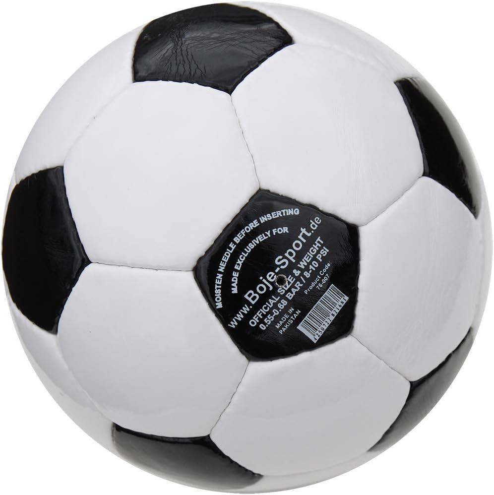 Boje Sport Football PU Classique Taille 4 Noir-Blanc Couleur