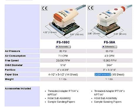 Hose Assembly For; FS-50A FS-100C Free Sander Nitto Kohki TB07904-4