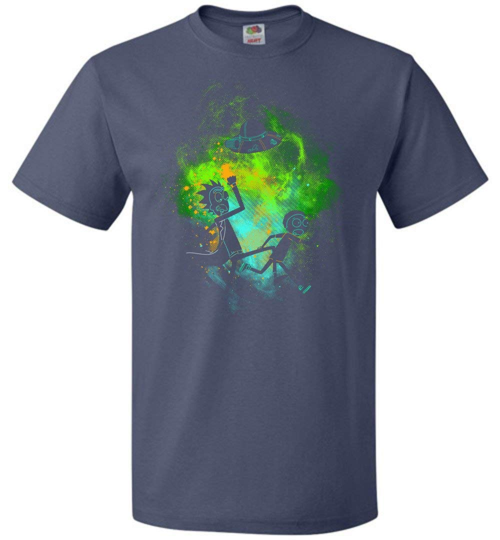 Rick Morty Art Unisex Adult Pop Culture Graphic Nerdy Geeky Apparel Shirts