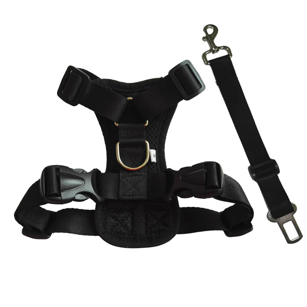 HANCIN Dog Seat Belt Harness for Cars, Dog Harness Vest for Large Dogs and Cats
