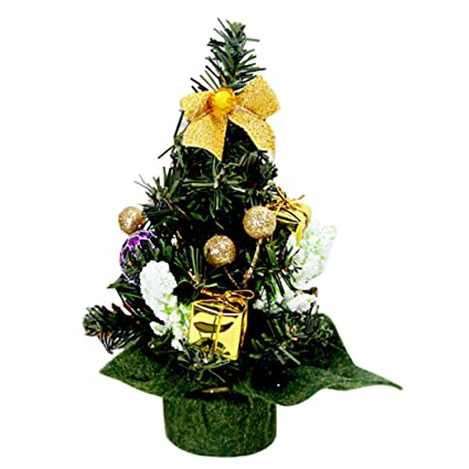 outgeek mini artificial tree 787 miniature christmas table centerpiece fake pine tree with - Mini Fake Christmas Tree