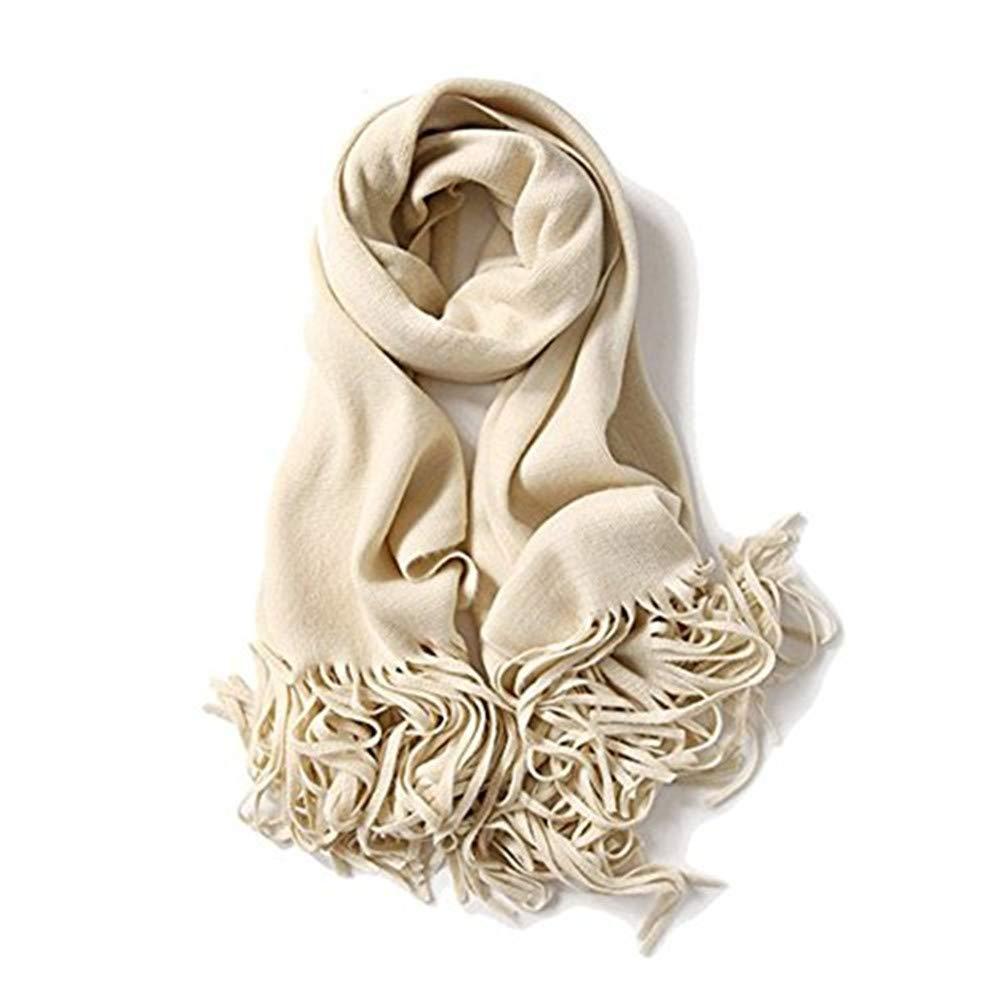 zulves Cashmere Scarf Pashmina Shawl Wrap Elegant Scarves Crochet Scarf Winter Cape