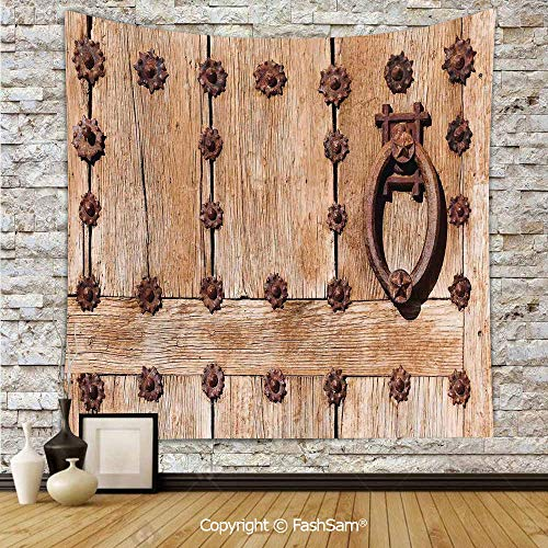 FashSam Tapestry Wall Hanging Spanish Entrance of Rusty Medieval Style Handlers Archway Facade Historical Image Decorative Tapestries Dorm Living Room Bedroom(W59xL78)