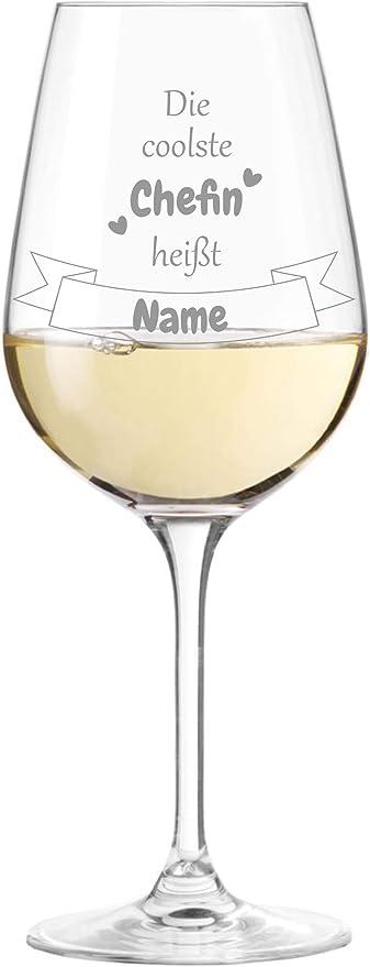 KS Laserdesign Leonardo Weinglas mit Spruch  die coolste Rentnerin hei/ßt  pers/önliche Gravur Wunschname Ruhestand Rente Geschenkidee