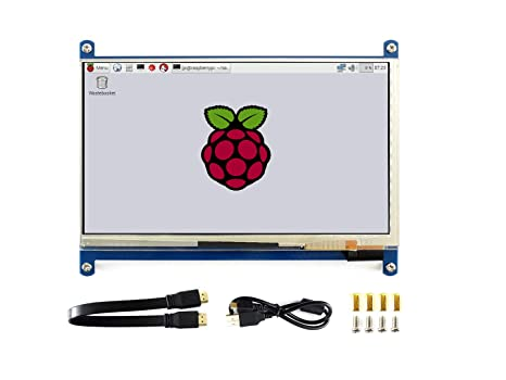 Waveshare 7 Inch Capacitive Touch Screen LCD(C) 1024 X 600 HDMI Interface  Display Shield Panel Supports Raspberry Pi/BB Black/PC/Various