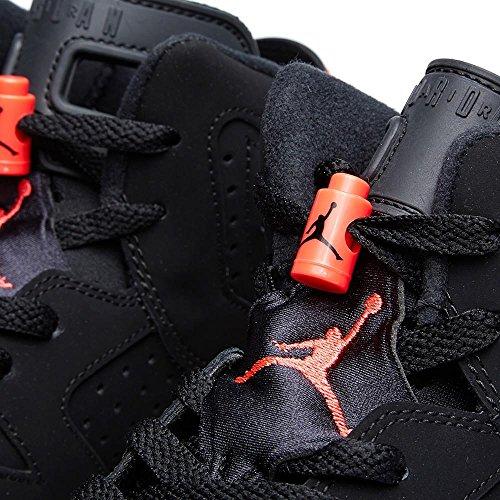 Nike Air Jordan 6 Retro Bg, Zapatillas de Deporte para Niños Negro / Rojo (Black / Infrared 23)