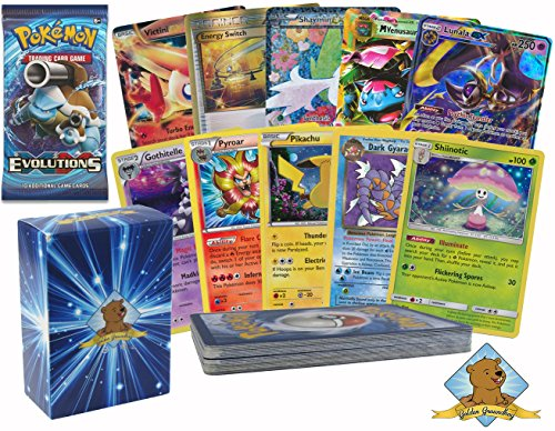 Pokemon 20 Rare Card Lot, Guaranteed 1 Mega, EX or GX Plus 1 New Booster Pack No Duplicates By Golden Groundhog