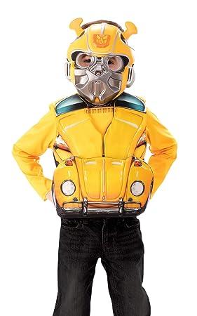 Transformers Deluxe Flip N Reveal Bumblebee Boys Costume Size S