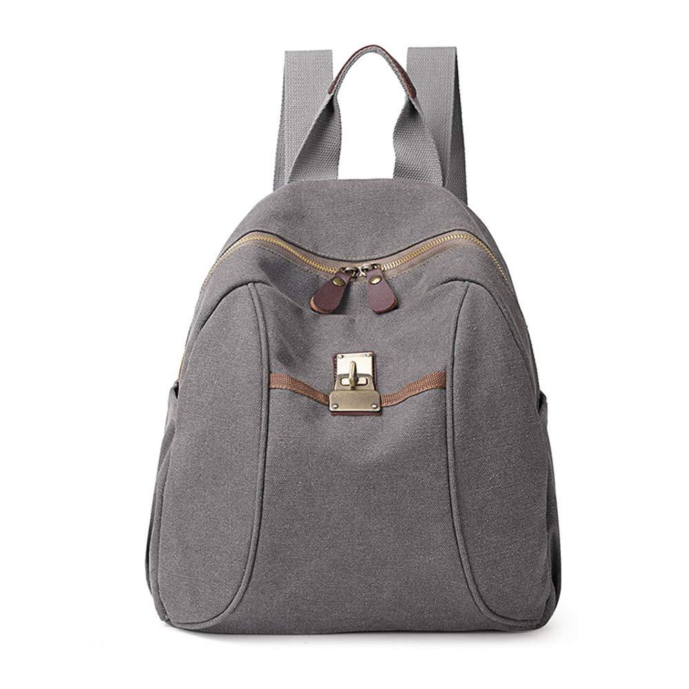 Sytian Vinatge Style Simple But Fashion Design Canvas Shcool Bag Laptop Backpack Travel Backpack (Grey)