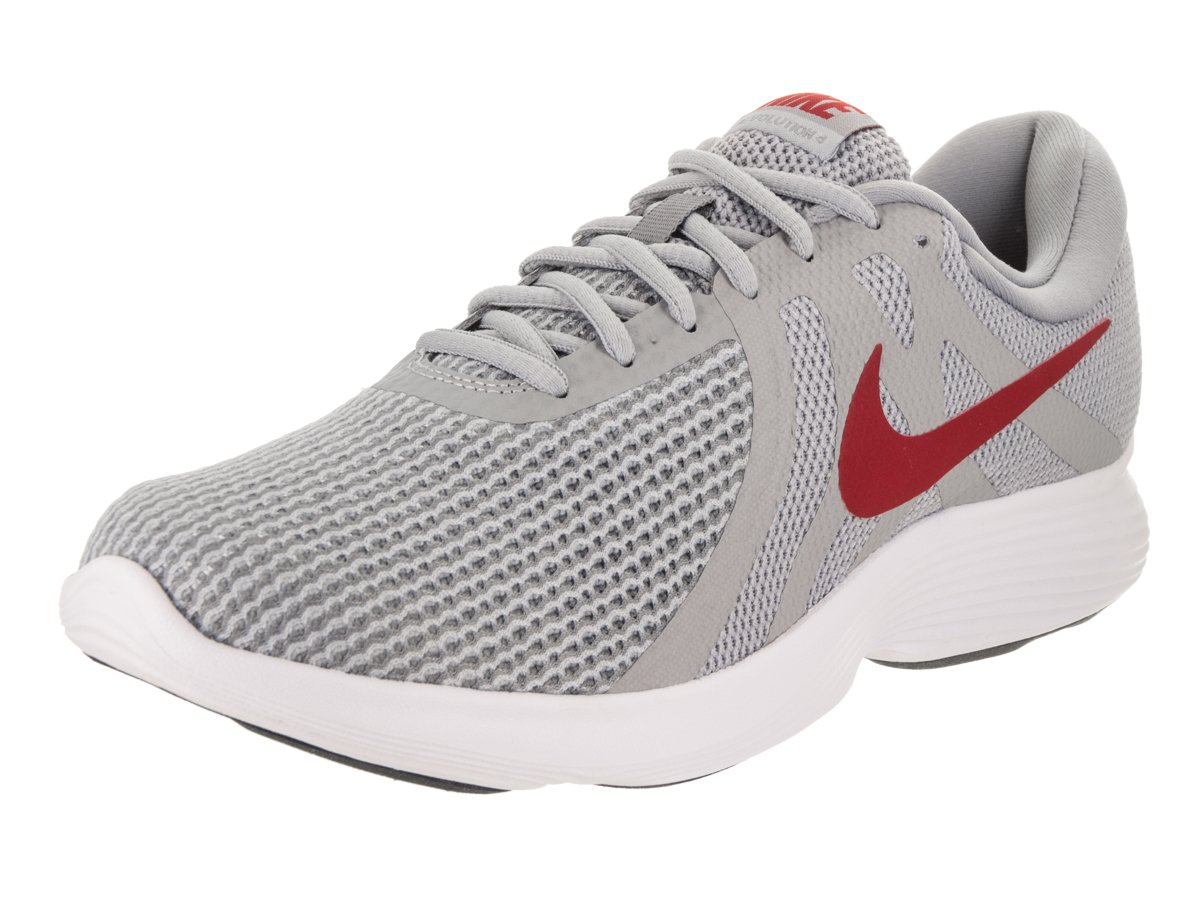 NIKE Men's Revolution 4 Running Shoe Wolf Grey/Gym Red/Stealth/White Size 11 M US
