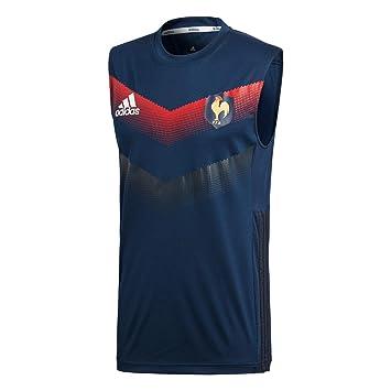 Adidas Ffr Sleeveless Camiseta Federación Francesa De Rugby, Hombre, Azul (Maruni/ngazul