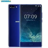 DOOGEE MIX Smartphonr Libre, 4G Teléfonos Inteligente(Cuerpo de Metal, 5.5 Pulgadas Pantallla HD Pantalla, Android 6.0, 64GB ROM, Cámaras Triples, Batería 3380mAh, Dual SIM, Huella Dactilar) (Azul, 6GB RAM + 64GB ROM)