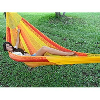 Medium image of hammocks rada handmade yucatan hammock   tequila sunrise