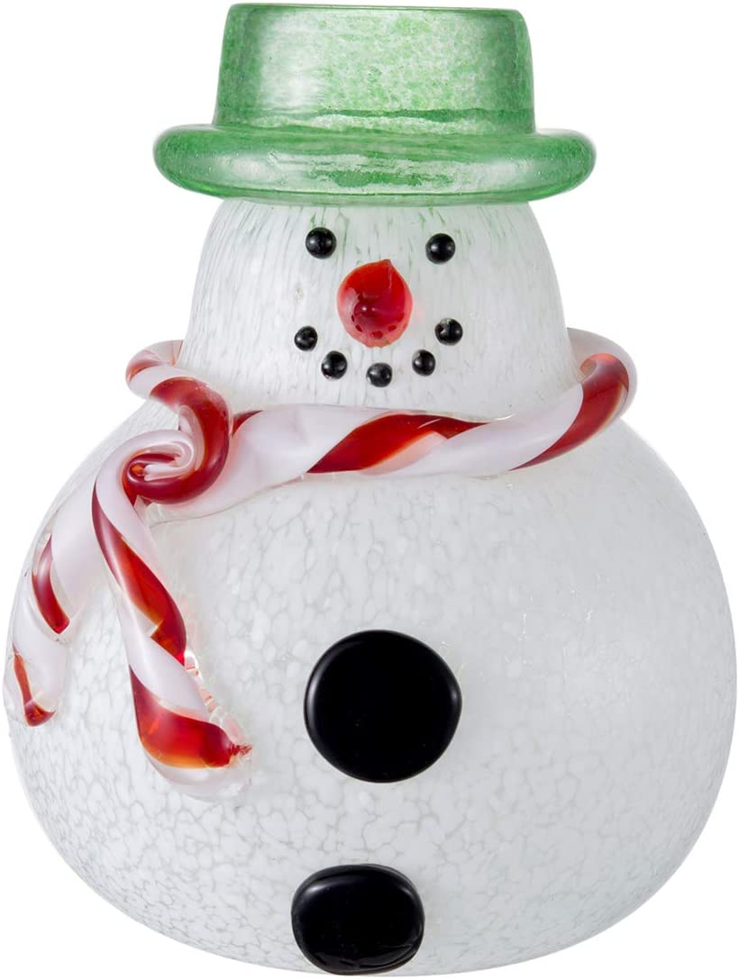 Amazon Com Diamond Star Handmade Snowman Ornament Mouth Blown Glass Figurine Home Decoration Tabletop Centerpiece Gift For Mother S Day Christmas Birthday Home Kitchen