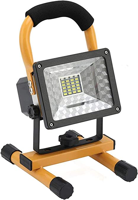 Portable Halogen Shop Light Auto Shop Wood Light Garage Jobsite Swivel Outdoor