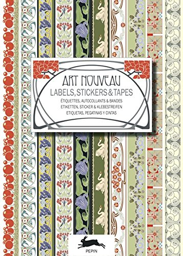 Art Nouveau (Label & Sticker Books) (English and German Edition)