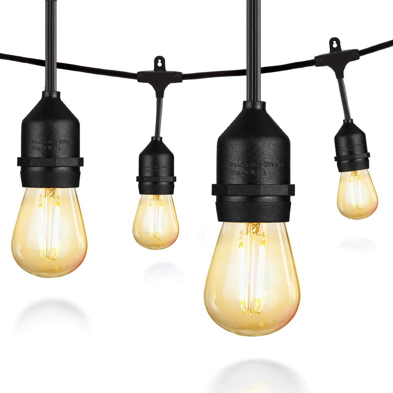 salking 48ft led outdoor string lights decorative globe commercial ebay. Black Bedroom Furniture Sets. Home Design Ideas