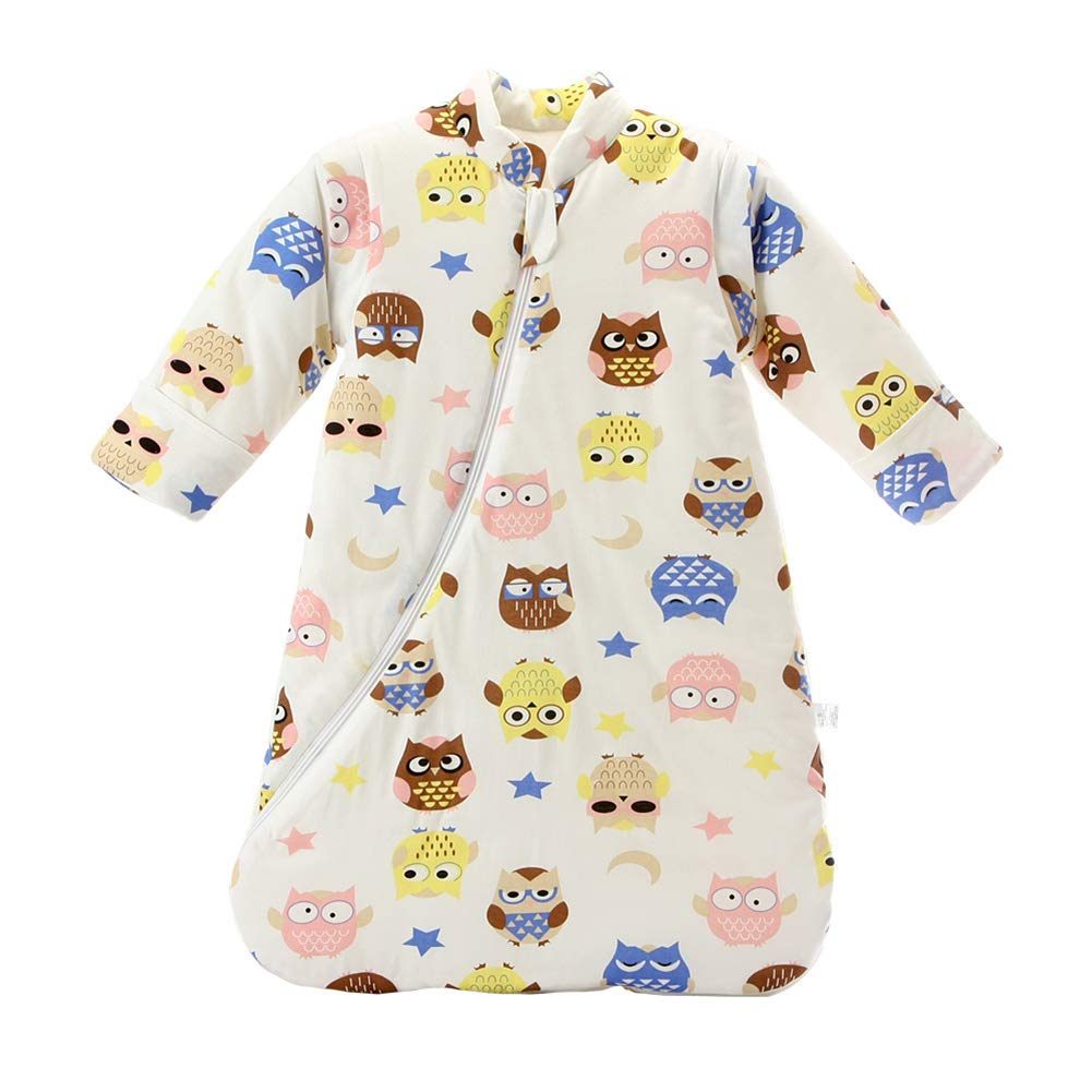 Fairy Baby Newborn Unisex Winter Thick Sleepsack Cartoon Bunting Bag Wearable Blanket size 2-3T (Owl Thickening)