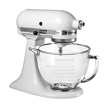 Surprising Kitchenaid Classic Stand Mixer 4 8 Litre And Transparent Glass Bowl Download Free Architecture Designs Ferenbritishbridgeorg