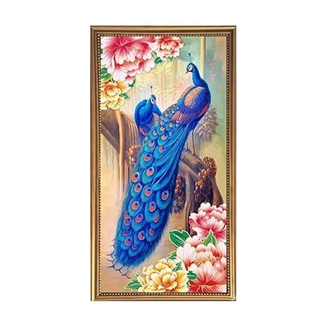 DIY 5D Diamond Embroidery Flower Peacock Painting Cross Stitch Home Decor