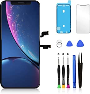Pavlysh Screen Replacement kit for iPhone Xs Max 6.5 inch with 3D Touch and Face ID - Set with Waterproof Frame Adhesive Sticker - Repair Tools Kit - Screen Tempered Glass Protector