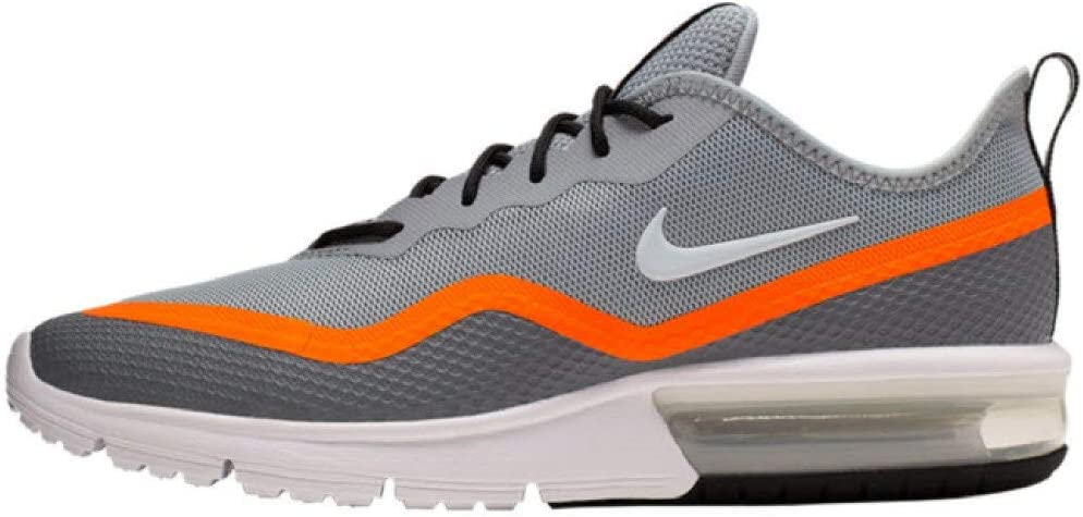 Nike Air Max Sequent 4.5 Trailloopschoenen voor heren, Bianco/Nero zwart (wolf grijs/wit/cool grijs/Total Orange 4)