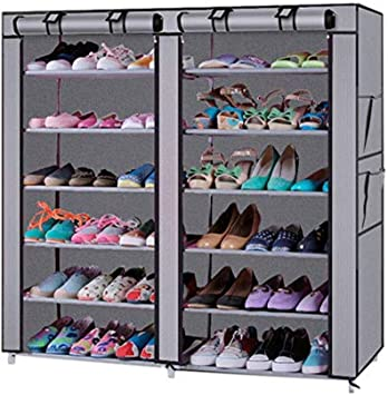 12 Grid Shoes Bag Box Closet Wardrobe Storage Organizer Dustproof Home Tidy Tool