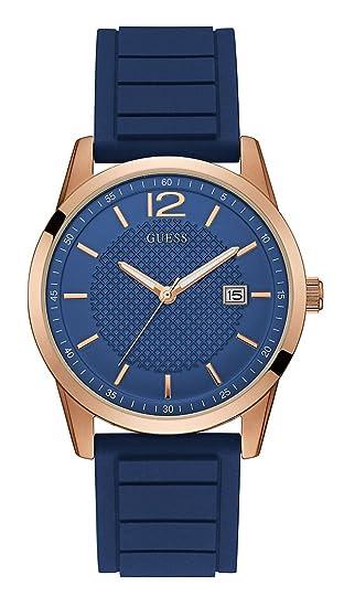 Guess Reloj Analogico para Hombre de Cuarzo con Correa en Silicona W0991G4: Amazon.es: Relojes