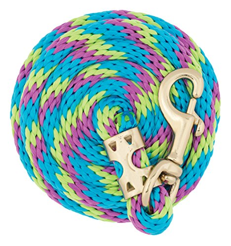 Weaver Leather Value Lead Rope with Brass Plated 225 Snap, Lime Zest/Hurricane Blue/Purple Jazz, 5/8' x 8'