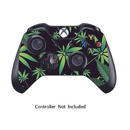 Xbox One Controller Designfolie Sticker - Vinyl Aufkleber Schutzfolie Skin für Xbox One Controller Weeds Black