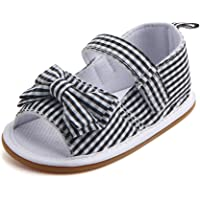 RVROVIC Baby Boys Girls Sandals Summer Shoes Canvas Soft Rubber Sole Toddler First Walker Infant Crib Shoes