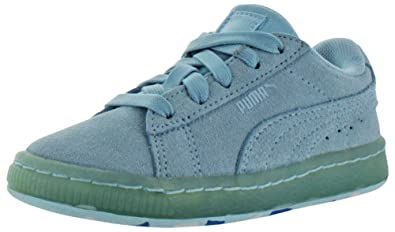 7afec0f43576 Amazon.com  PUMA Womens Suede Classic Ice Mix Casual Athletic   Sneakers  Blue  Shoes