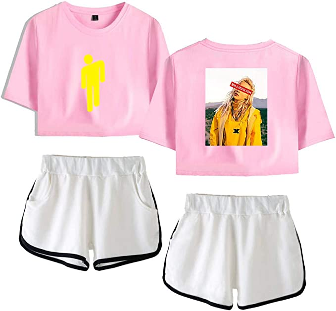 Siskey Billie Eilish Kurzarm Shorts Set Billie Eilish Printed Pullover Tee Shirt Shirt Short Sleeve Billie Eilish Unisex Sommer Kurze Hulsen T Shirts T Stucke Amazon De Bekleidung