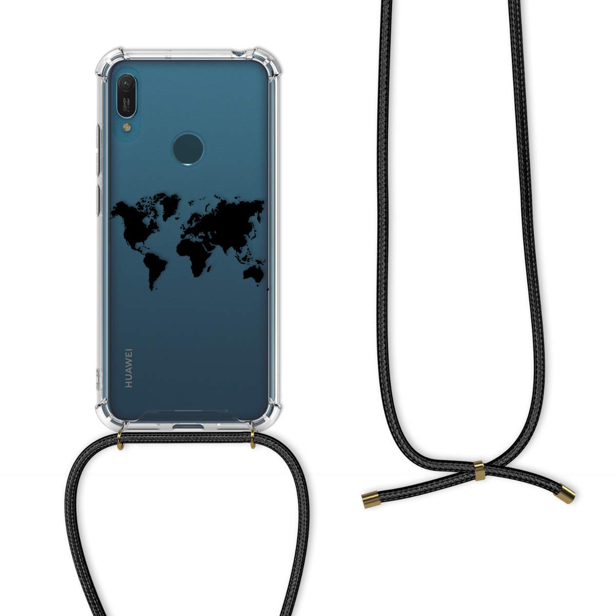 2019 - Coque pour Huawei Y6 - Housse en Silicone avec Collier Transparent 2019 kwmobile Coque Huawei Y6