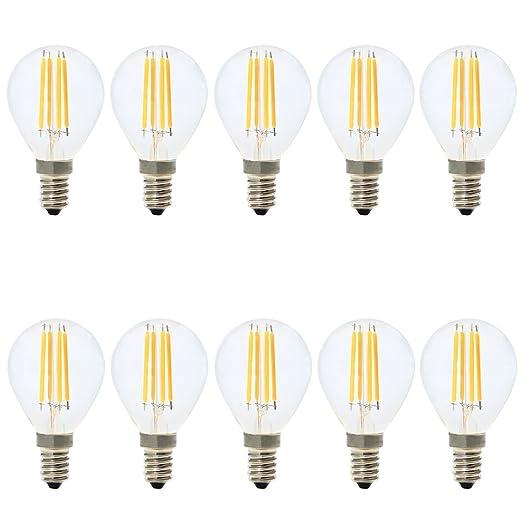 G45 Bombillas LED E14 Filamento Edison Regulable 4W Blanco Cálido 2700K,Bajo Consumo,4W