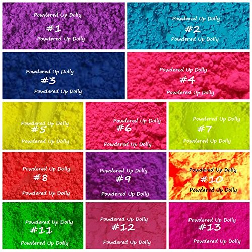 lot-of-13-1g-each-all-matte-neon-soap-bath-bomb-cosmetic-craft-nail-pigment-colorant-powder
