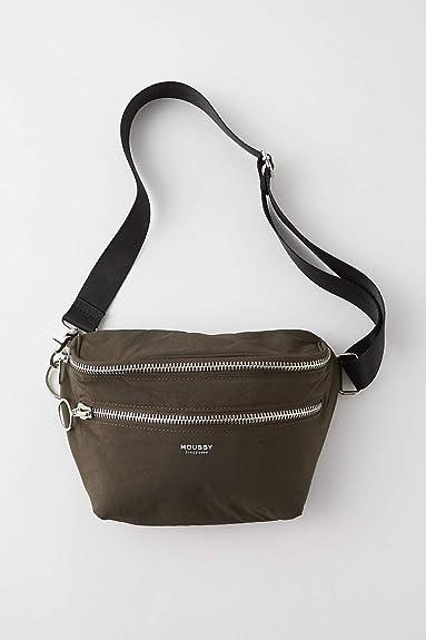 7cd4adca52ce Amazon | [マウジー] W ZIP WAIST&SHOULDER BAG FREE カーキ | moussy(マウジー) | ショルダーバッグ