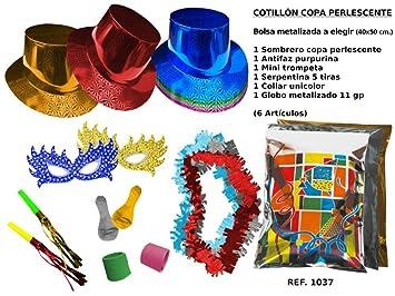 CAPRILO Lote de 10 Bolsas de Cotillones Decorativas Sombrero Copa. Cotillón  para Fiestas y Eventos b9f62522a26