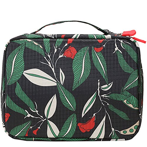 HiDay Travel Cosmetic Bag Toiletry Organizer Floral Makeup Pouch-Perfect for Your Cheerful -