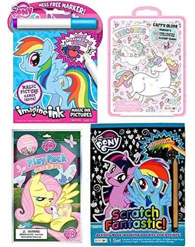 Superhero My Little Pony (My Little Pony Activity Book 4 Pack: Mess Free Game Book, Scratch-Off Art Book, Sticker Play Pack, and Coloring Book)