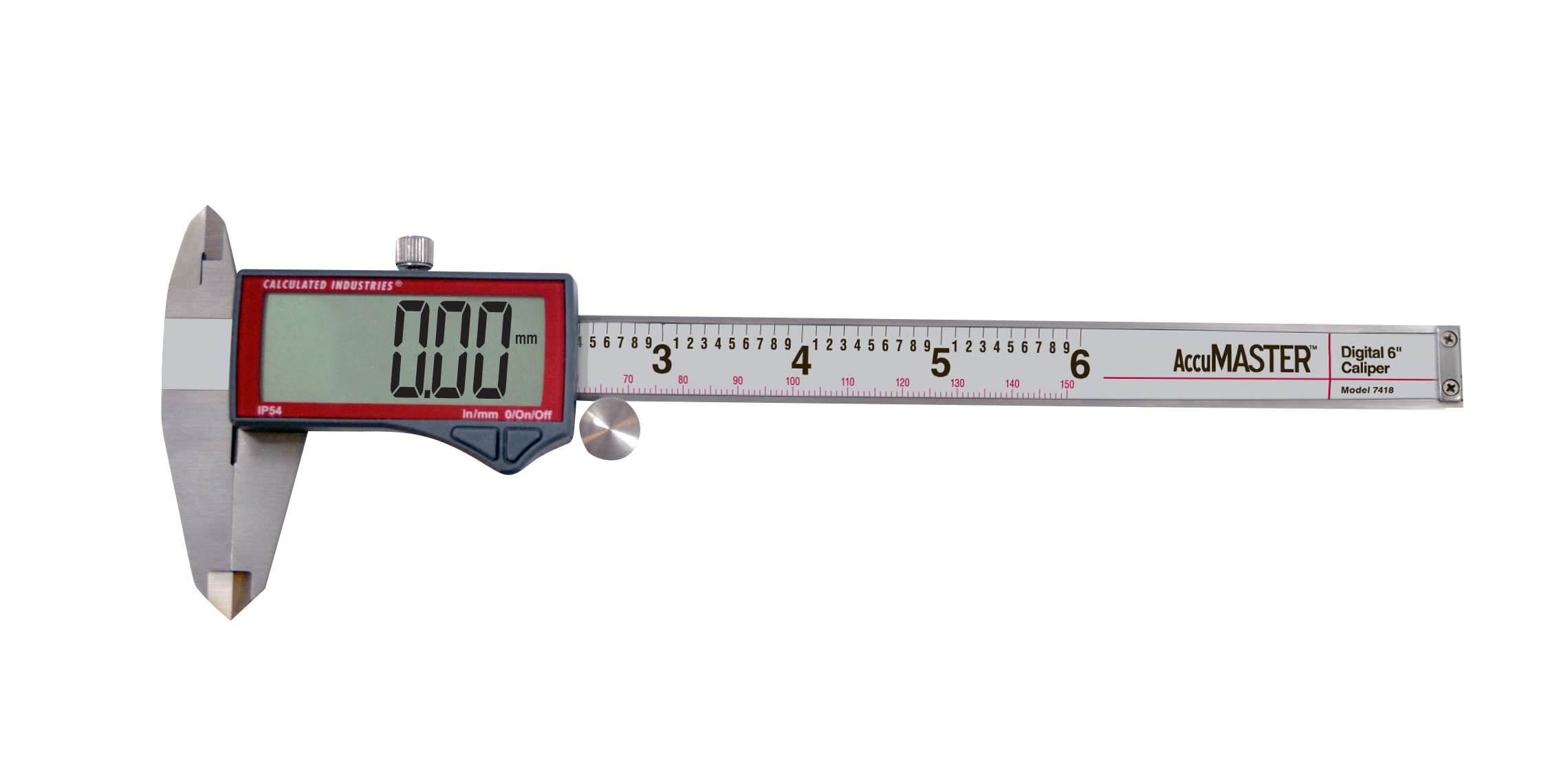 Calculated Industries 7418 AccuMASTER Electronic Digital Vernier Caliper | Metric/SAE Inch to Millimeter Conversion | Tool Measures 0-6 Inches/150mm | Stainless Steel | Largest Display Digits |IP54 by Calculated Industries (Image #16)
