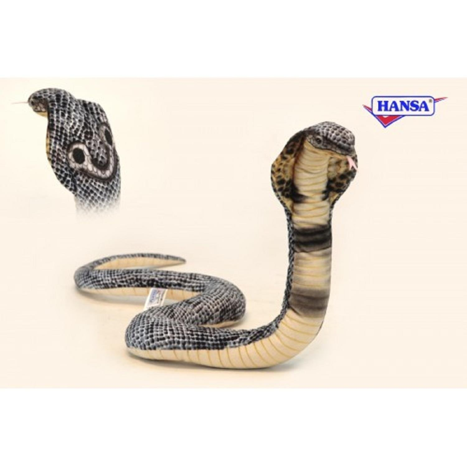 Pack of 3 LifeLike Handcrafted Extra Soft Plush Curled Cobra Stuffed Animals 33.5
