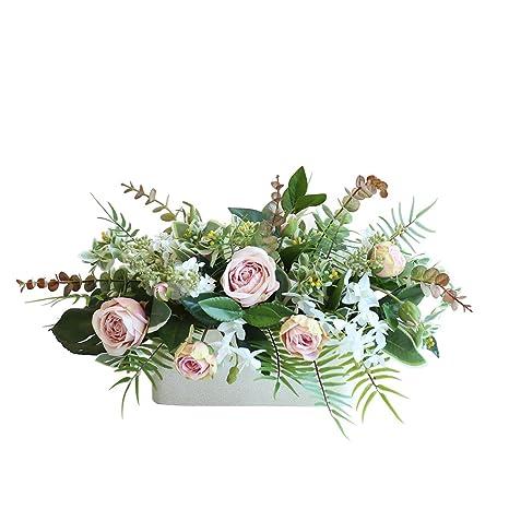 Amazoncom Mezclado Arreglo Floral De Seda En Forma