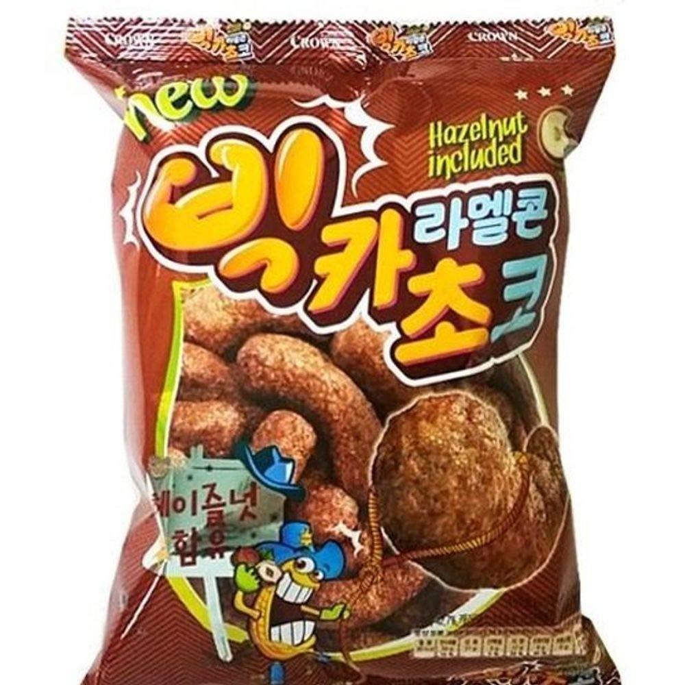 Crown Big Caramel Corn Choco 72g x 16 빅카라멜 초코