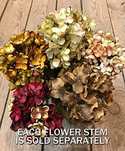 HYDRANGEA FLOWER to accessorize with our Handmade Mason Canning Pint Ball JARS in a Distressed Wood DRAWER *Make a beautiful CENTERPIECE with Silk Flower Stems