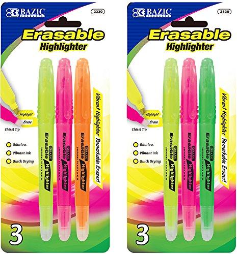 BAZIC Erasable Highlighter (3/Pack) 144 pcs SKU# 1930475MA