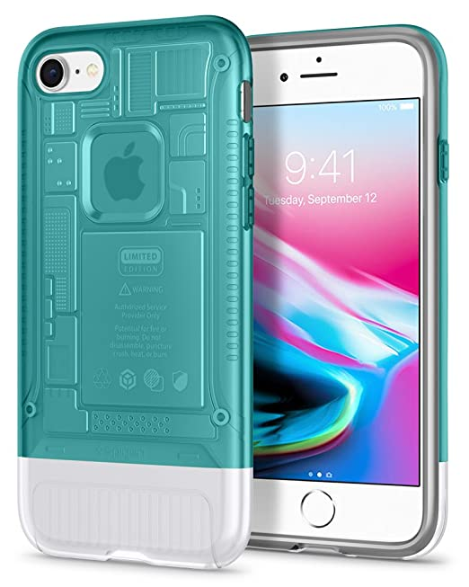 timeless design 05253 58b92 Spigen Classic C1 [10th Anniversary Limited Edition] iPhone 8 Case with Air  Cushion Technology for Apple iPhone 8 (2017)-Bondi Blue