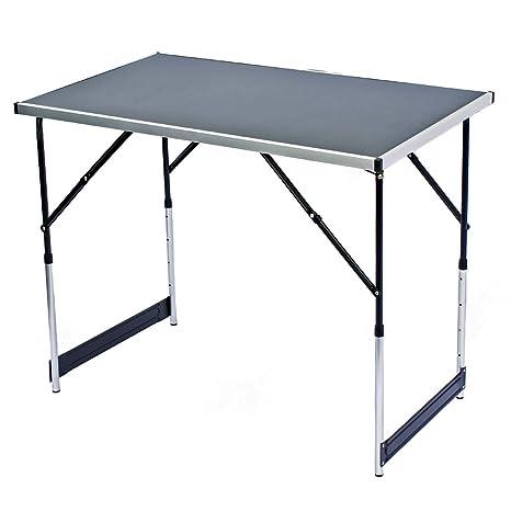 Goods & Gadgets Table multifonction pliante Table polyvalente Table de camping Table de marché Table à tapisser Table dappoint