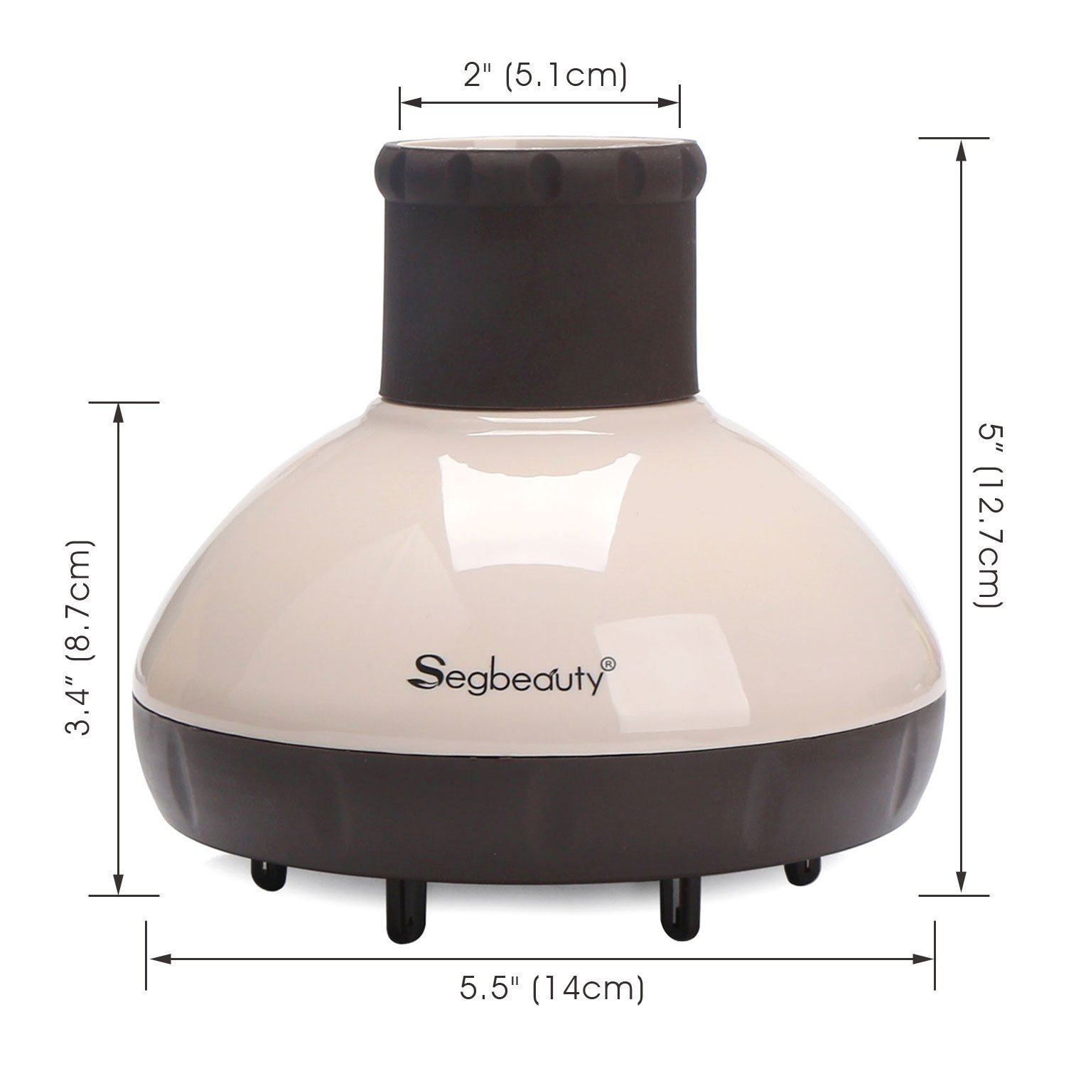 Hair Diffuser, Segbeauty Hair Blow Dryer Diffuser Attachment Professional Salon Tool for Fine Thick Curly Frizzy and Wavy Hair, Dry and Gain Volume Without Frizz, for Dryer Nozzle 1.6-1.8'' by Segbeauty (Image #7)