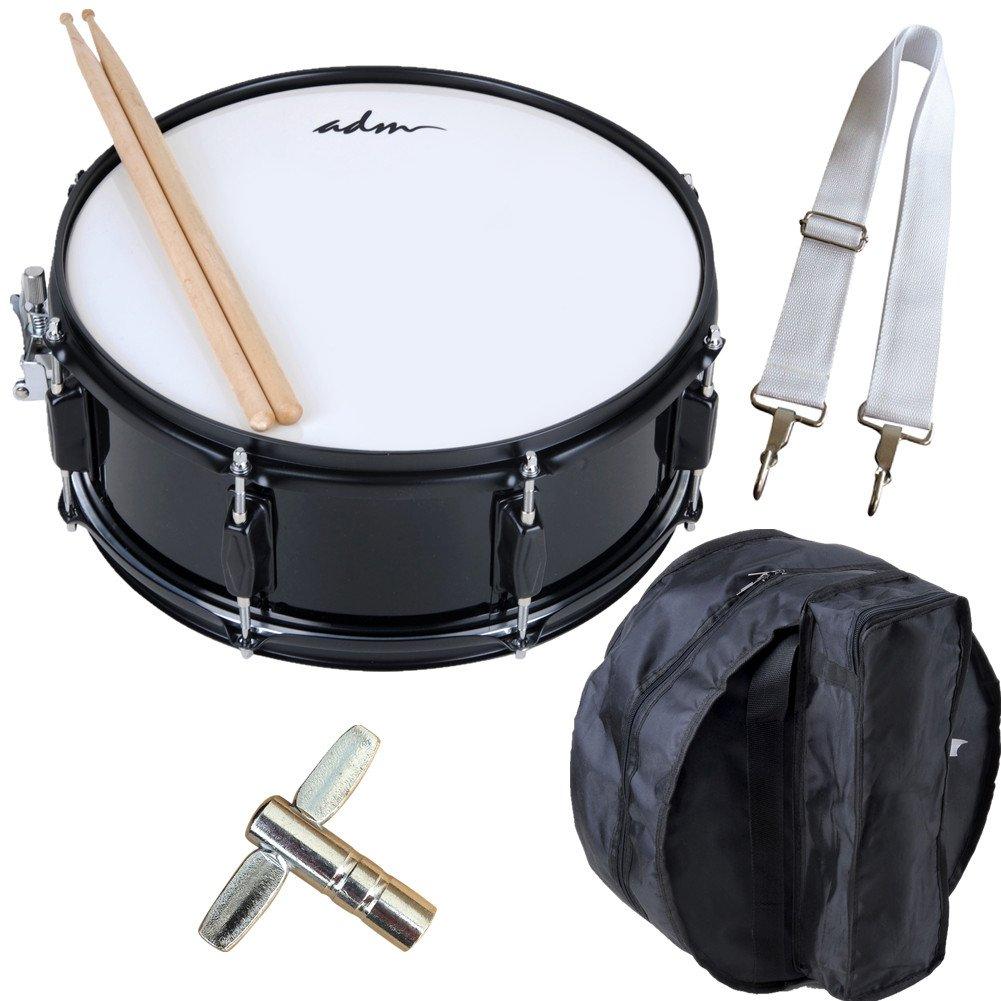 Amazon.com: ADM Snare Drum Set with Bag, Sticks, and Strap, for ...